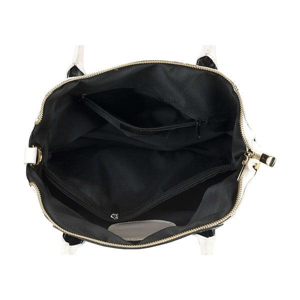 Skórzana torebka Bounty White Black