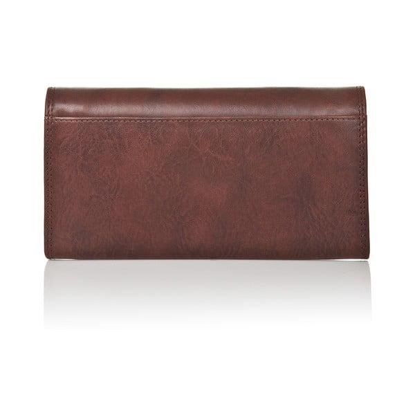 Czekoladowo-brązowy portfel skórzany Medici of Florence Maria