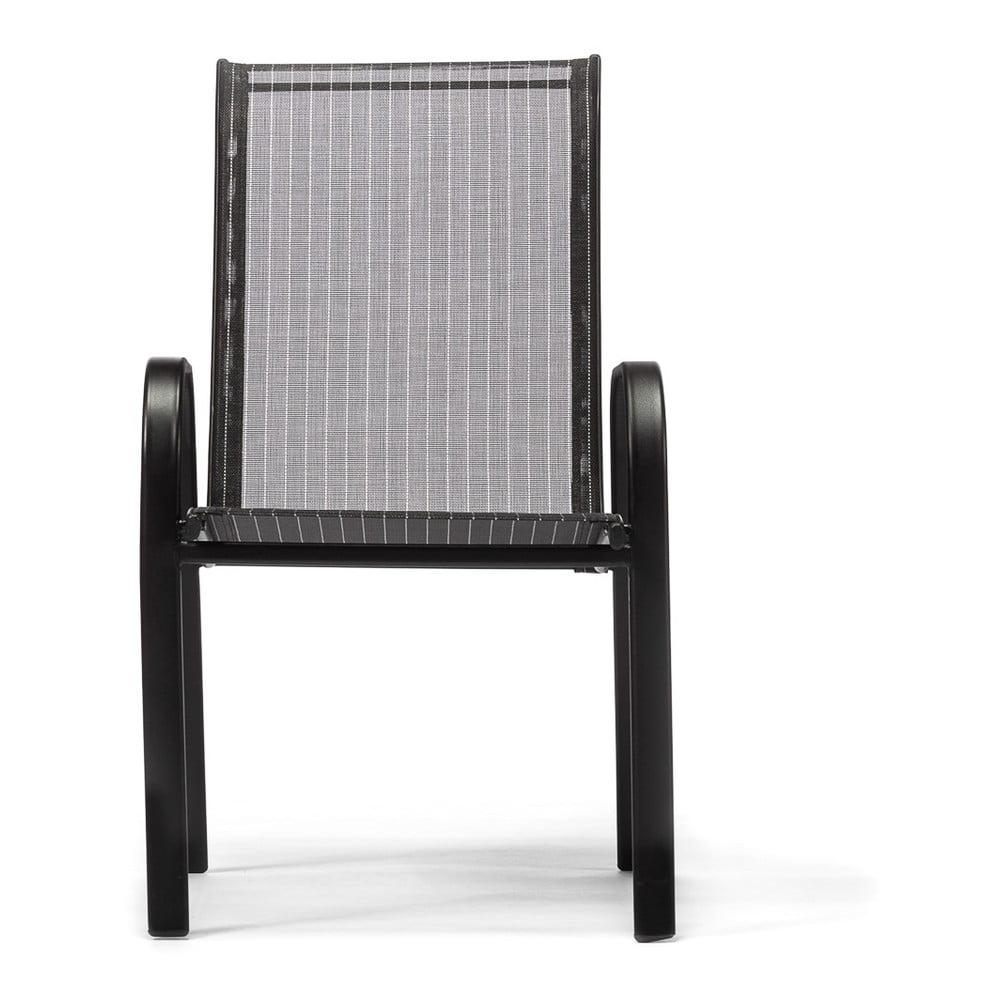 Czarne krzesło ogrodowe Timpana Ghana