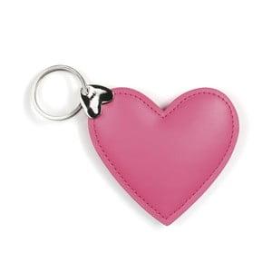 Różowy breloczek na klucze GO Stationery Hearts Key