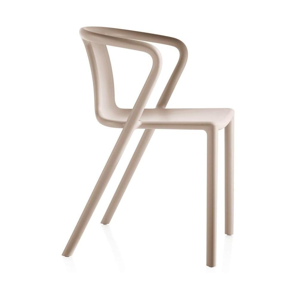 Beżowe krzesło z podłokietnikami Magis Air