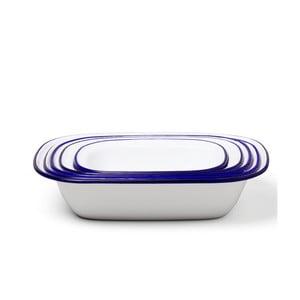 Zestaw 4 białych emaliowanych foremek do ciasta Falcon Enamelware Family