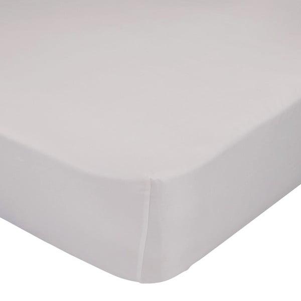 Beżowe elastyczne prześcieradło HF Living Basic, 90x200 cm