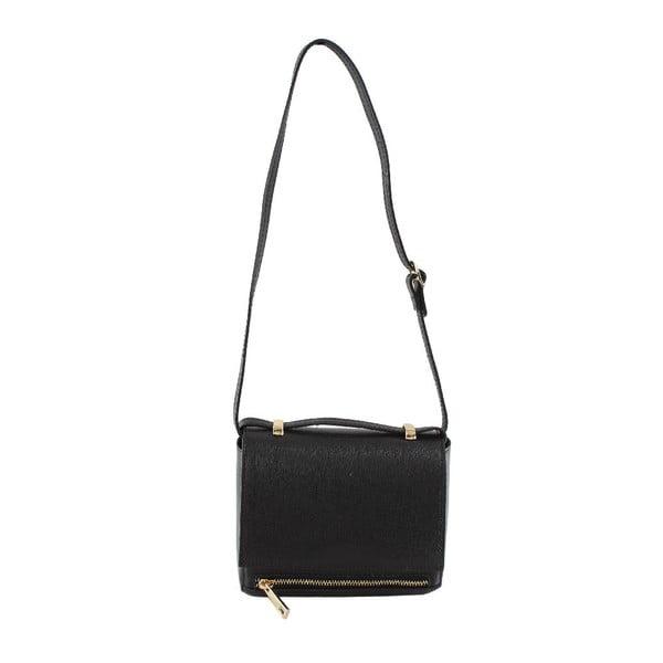 Skórzana torebka przez ramię Sonja, czarna