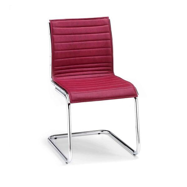Bordowe krzesło biurowe bez podłokietników Chrono Zago