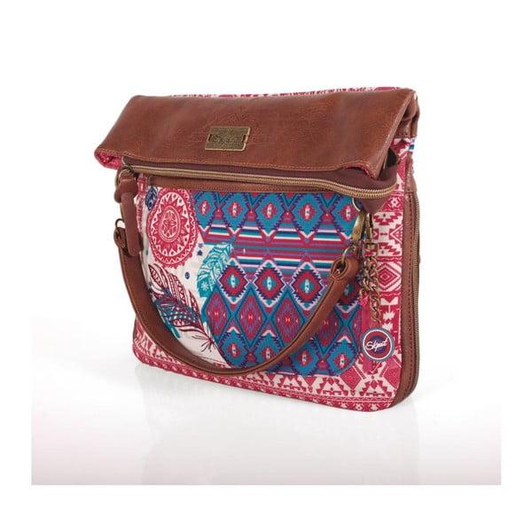 Różowo-niebieska torebka SKPA-T, 31 x 35 cm
