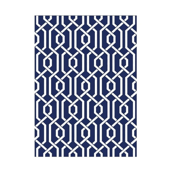 Ręcznie tkany dywan Camila Blue, 155x240 cm