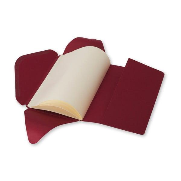 Czerwony notes z okładką Moleskine Postal L
