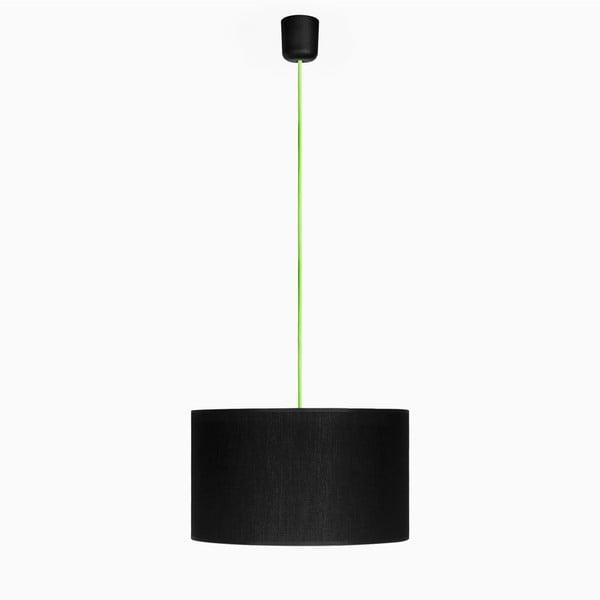 Lampa wisząca Tres L, zielona/czarna