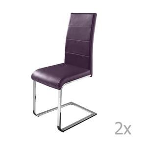 Zestaw 2 fioletowych krzeseł Støraa Cara