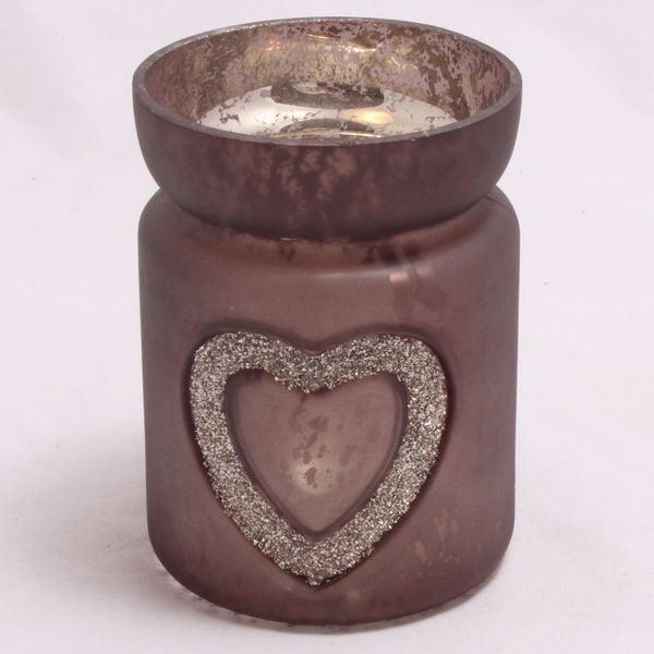 Świecznik szklany Serce