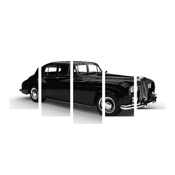 Wieloczęściowy obraz Black&White Car, 100x50 cm