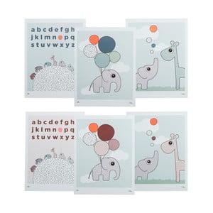 Zestaw 3 dwustronnych dziecięcych plakatów Done by Deer