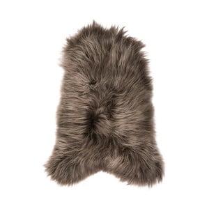 Brązowa skóra owcza z długim włosiem, 110x60 cm