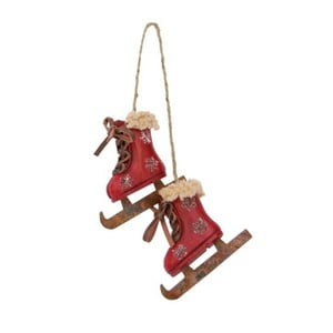 Dekoracja wisząca Skiing Boots Red