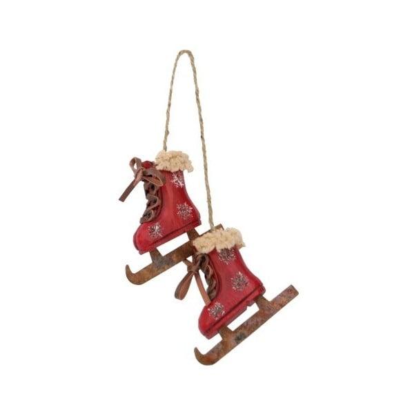 Dekoracja wisząca Antic Line Skiing Boots Red