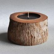 Palmowa świeczka Legno Black Bee o zapachu lilii wodnej, 40 godz.