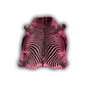 Skóra dekoracyjna Normand Cow Zebra Red, 170x190 cm