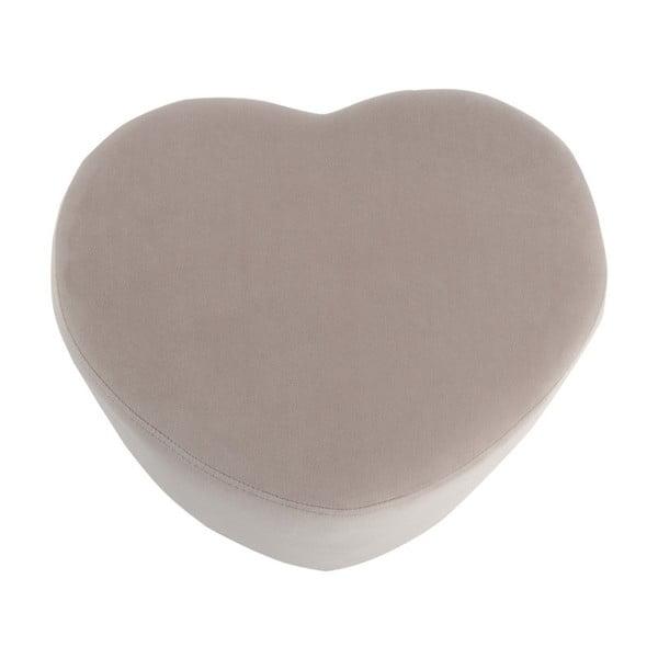 Beżowy puf w kształcie serca J-Line