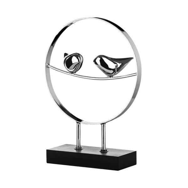 Statuetka Birds Silver