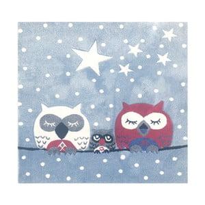 Dywan dziecięcy Happy Rugs Owl Family, 140x140 cm