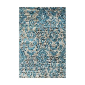 Dywan wełniany Bakero Ikat Turquoise, 120x180 cm