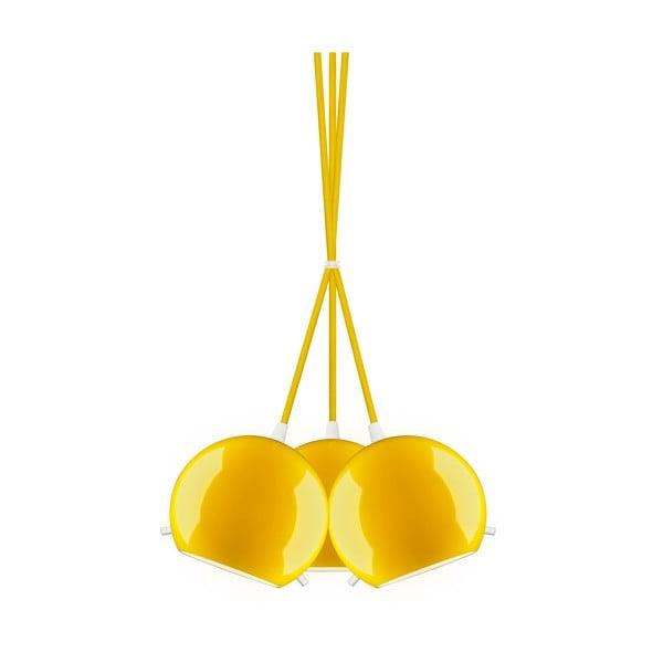 Lampa potrójna MYOO Elementary, żółta błyszcząca/żółta/biała