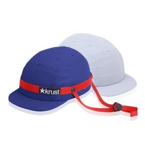 Kask rowerowy Krust blue/red/grey z zapasową czapką, rozmiar S