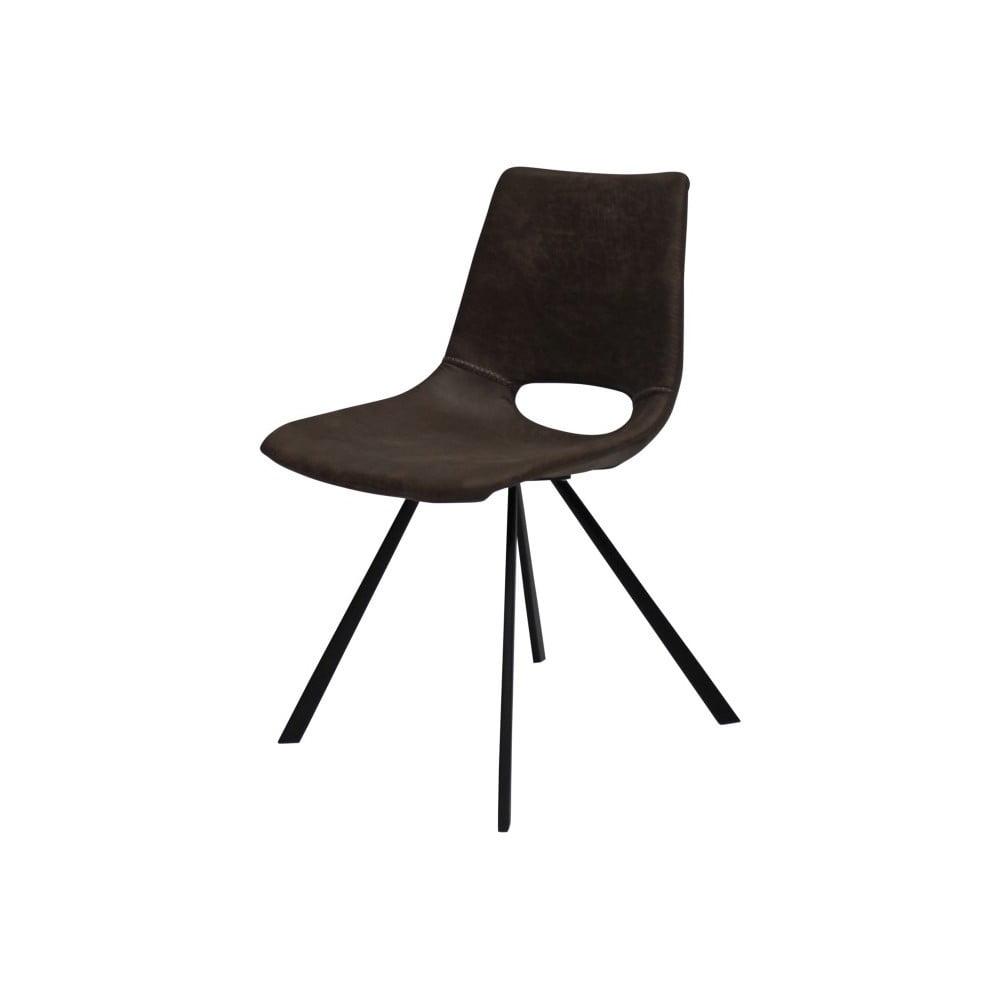 Brązowe krzesło z czarnymi nogami Canett Coronas