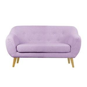 Różowa sofa dwuosobowa Helga Interiors Oslo