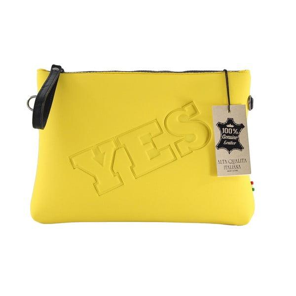 Neoprenowa kopertówka Yes/No, żółta