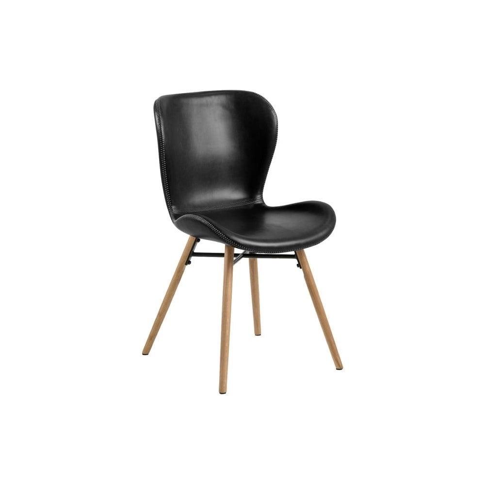 Czarne krzesło do jadalni z konstrukcją z drewna dębowego Actona Batilda
