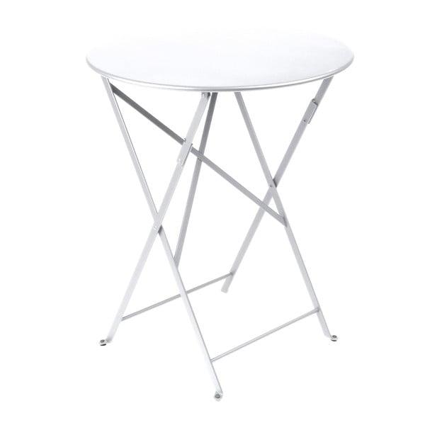 Biały składany stół metalowy Fermob Bistro