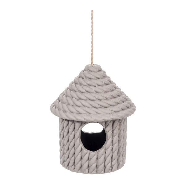 Ceramiczny karmnik Rope Taupe, 18x18x21 cm