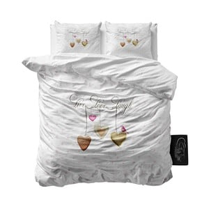 Pościel z mikroperkalu Sleeptime Live, Laugh, Love, 200x220cm