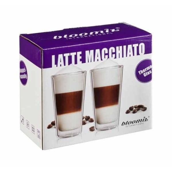Zestaw 2   szklanek na latte macchiato bloomix Milano