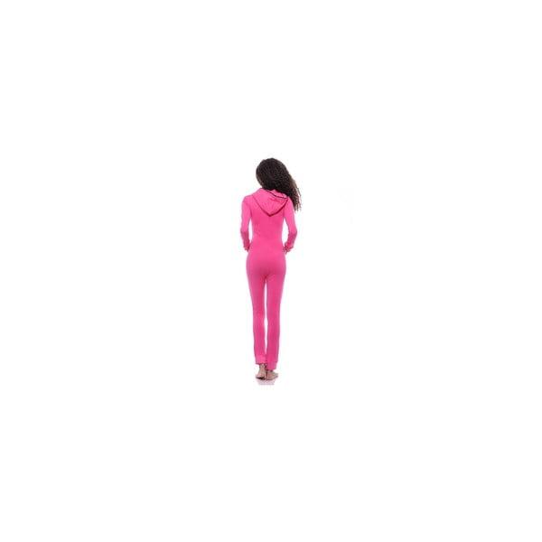 Obcisły kombinezon po domu Summer Pink, L