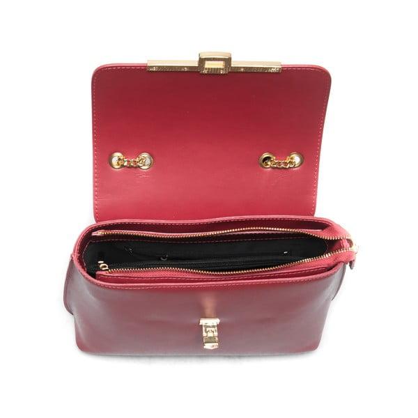 Skórzana torebka Layla 395 Rosso