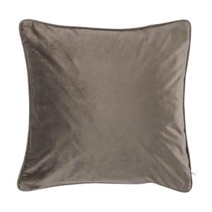 Ciemnobeżowa poduszka Tiseco Home Studio Velvety, 45x45 cm