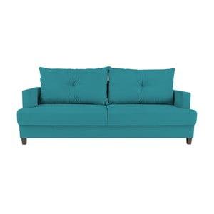 Turkusowa 3-osobowa rozkładana sofa Melart Lorenzo