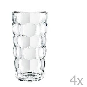 Komplet 4 szklanek ze szkła kryształowego Nachtmann Bubbles, 390 ml