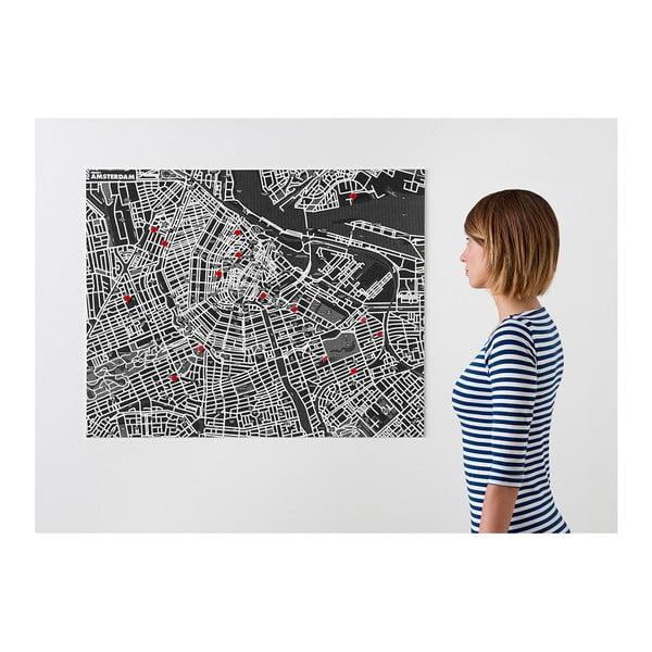 Czarna mapa ścienna Palomar Pin Amsterdam