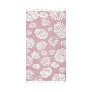 Różowy ręcznik hammam Kate Louise Fiona, 165x100cm