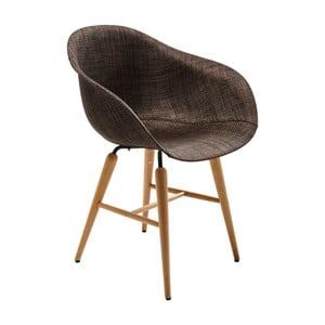 Ciemnobrązowe krzesło do jadalni Kare Design Armlehe Forum