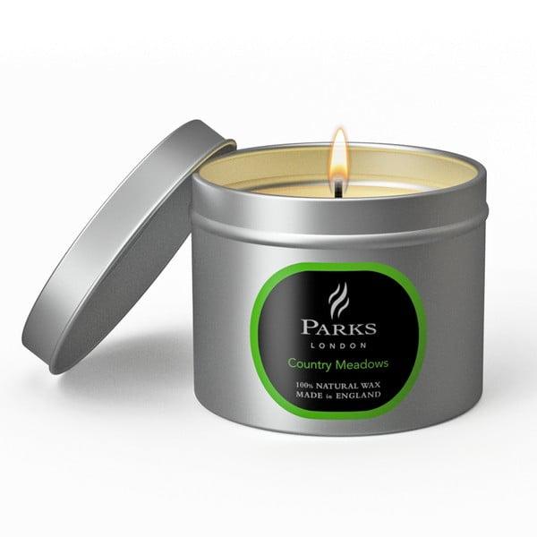 Świeczka Parks London, 25 godzin palenia, zapach łąki