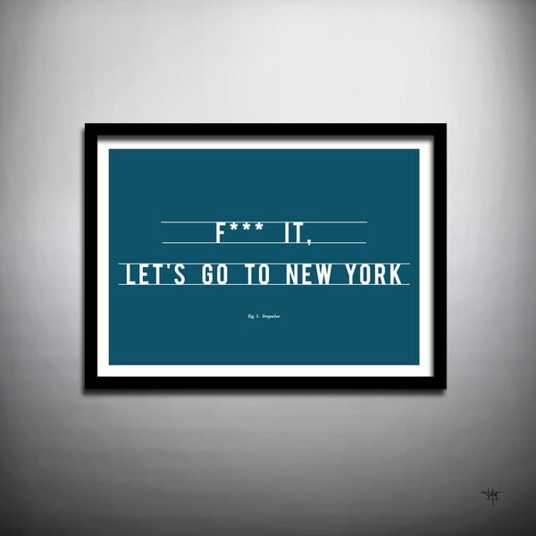 Plakat Let's Go to New York