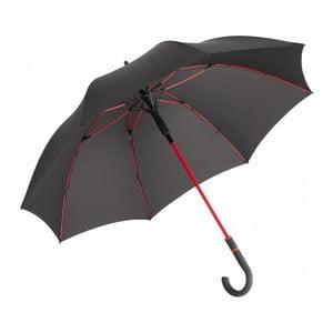 Czarny parasol z czerwonymi detalami Fare Proof