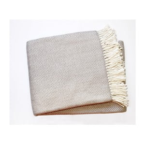 Jasnoszary koc z dodatkiem bawełny Euromant Skyline, 140x180cm