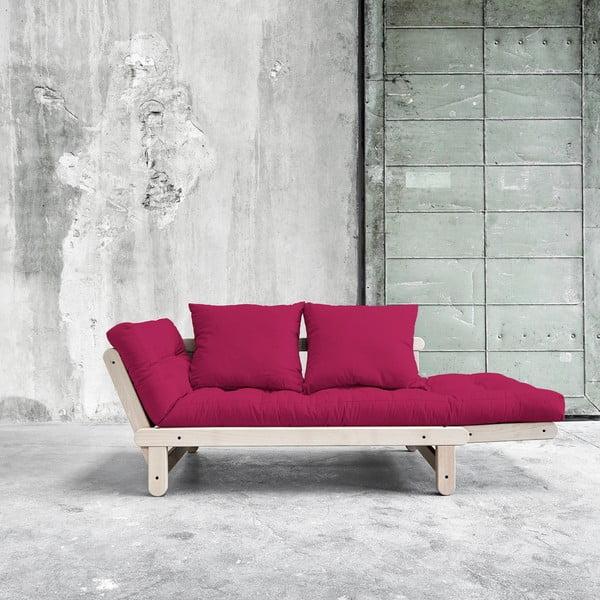 Sofa rozkładana Beat Beech/Pink