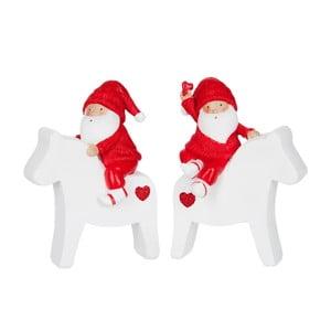 Zestaw 2 dekoracji Santa Horse M